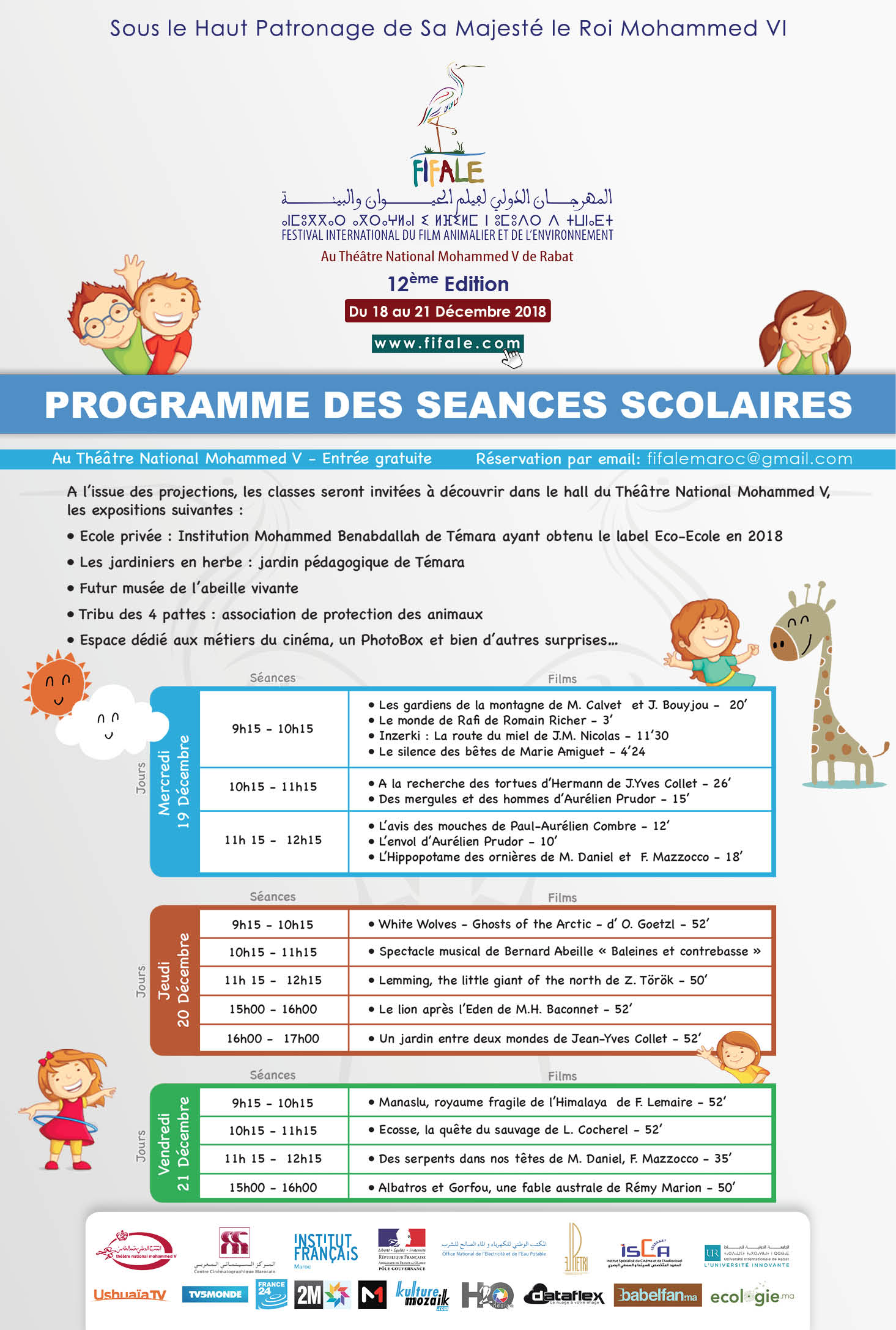 Affiche Fifale 2018 Programme Scolaires